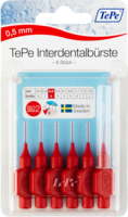TEPE Interdentalbürste 0,5mm rot